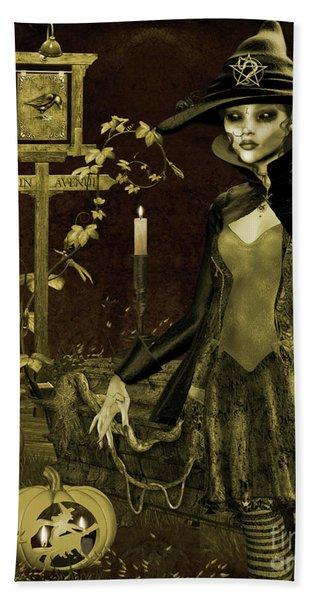 Halloween Graveyard-c Hand Towel
