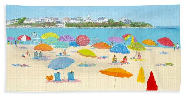 Hampton Beach Umbrellas Hand Towel