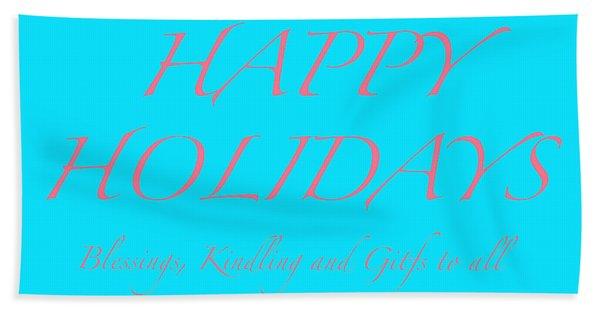 Happy Holidays - Day 3 Hand Towel