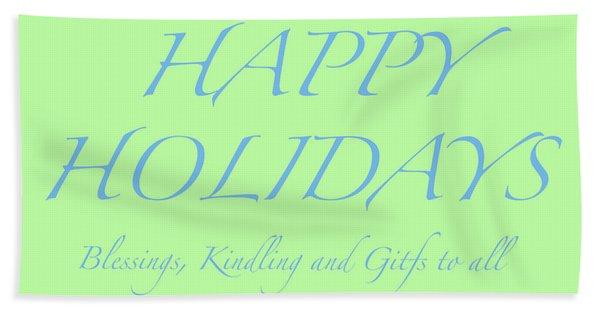Happy Holidays - Day 4 Hand Towel