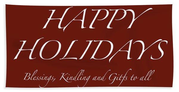 Happy Holidays - Day 6 Hand Towel