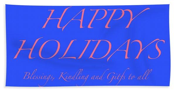 Happy Holidays - Day 7 Hand Towel