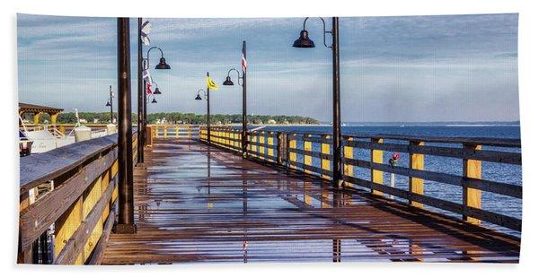 Harbour Town Pier Hand Towel
