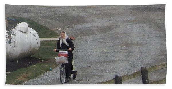 Heading Off To School Hand Towel