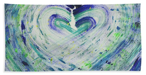 Heart Centered Peace And Love Bath Towel