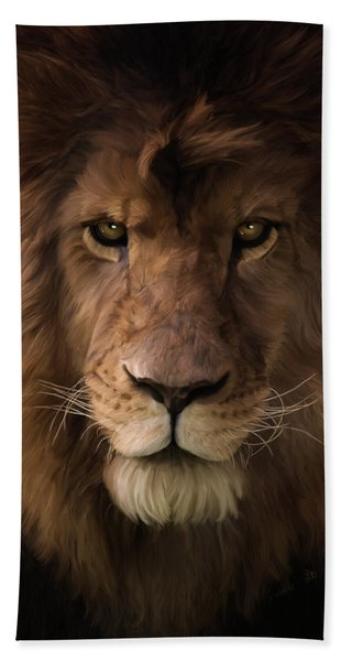 Heart Of A Lion - Wildlife Art Hand Towel