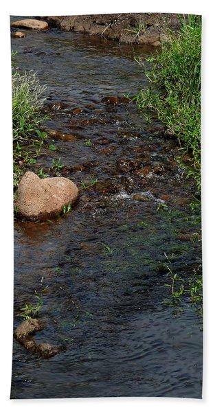 Heart Of The Stream Bath Towel