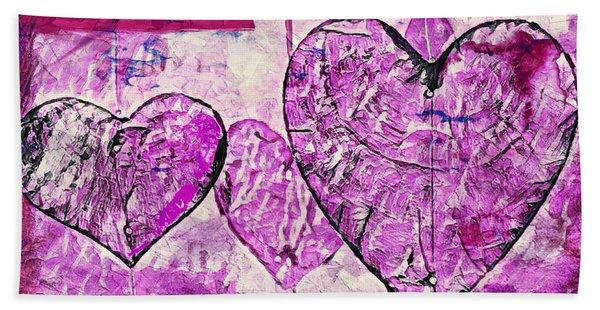 Hearts Abstract Hand Towel