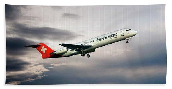 Helvetic Airways Fokker 100 Hand Towel