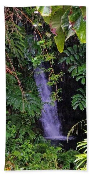Small Hidden Waterfall  Bath Towel