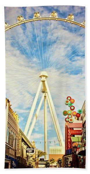 High Roller Wheel, Las Vegas Bath Towel