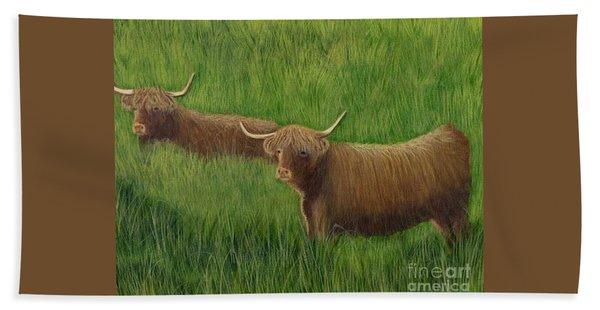Highland Cows Hand Towel