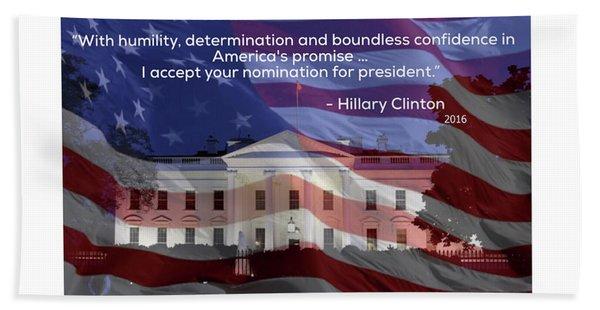 Hillary Clinton's Acceptance Speech Hand Towel