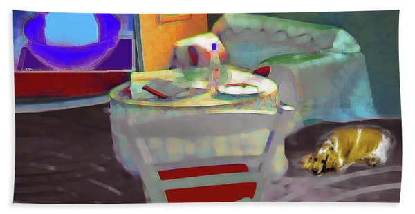 Home Sweet Home Painting Bath Towel
