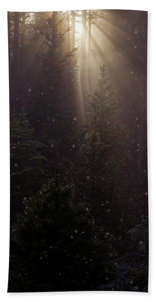 Hope And Faith - Winter Art Hand Towel