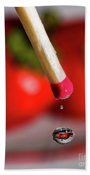 Hot Pepper Drops Hand Towel