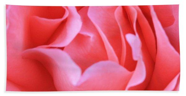 Hot Pink Petals Bath Towel