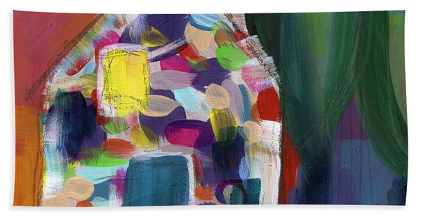 House Of Many Colors- Art By Linda Woods Bath Towel