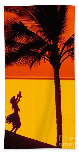 Hula At Sunset Hand Towel