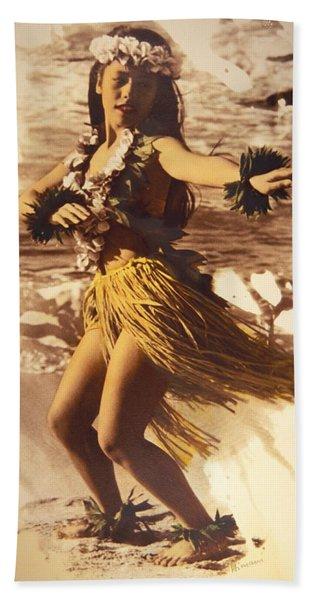 Hula On The Beach Hand Towel