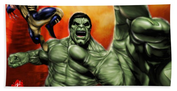 Hulk Bath Towel