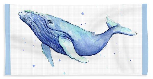 Humpback Whale Watercolor Bath Towel