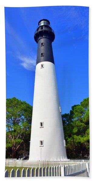 Hunting Island Lighthouse Beaufort Sc Hand Towel