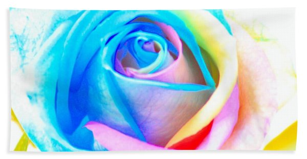 Rainbow Rose Bath Towel