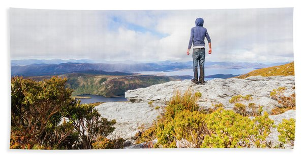 I Can Climb Mountains Hand Towel