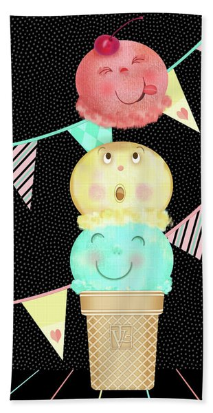 I Is For Ice Cream Cone Hand Towel