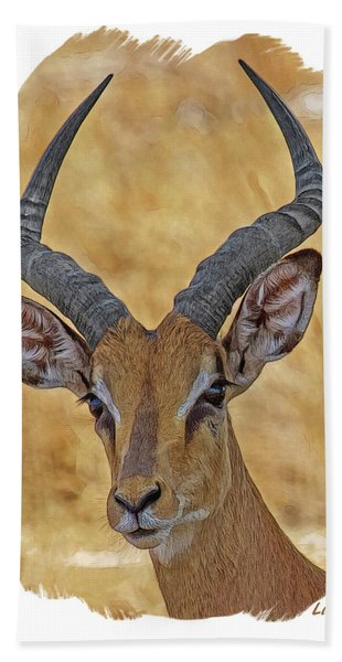 Bath Towel featuring the digital art Impala by Larry Linton