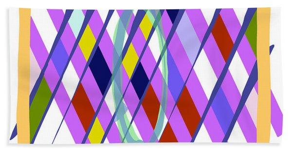 Bath Towel featuring the digital art Improvised Geometry #1 by Bee-Bee Deigner