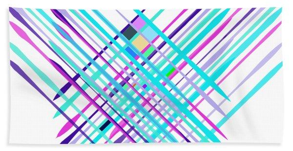 Bath Towel featuring the digital art Improvised Geometry #2 by Bee-Bee Deigner