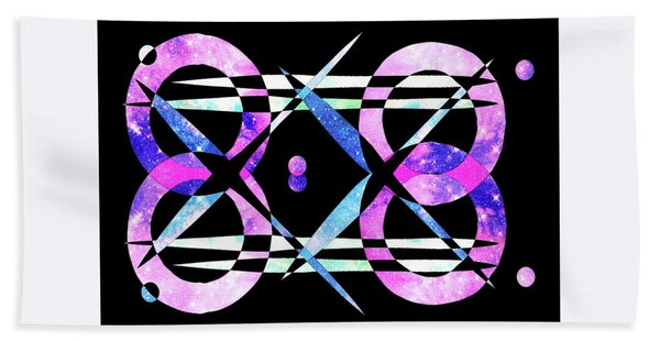 Bath Towel featuring the digital art I Took A Retrofuturistic Journey In Space In 1920 by Bee-Bee Deigner