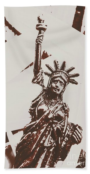 In Liberty Of New York Hand Towel