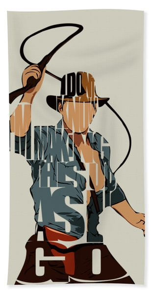 Indiana Jones - Harrison Ford Bath Towel