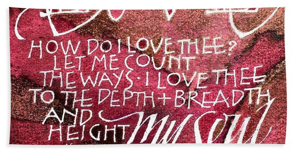 Inspirational Saying Love Hand Towel