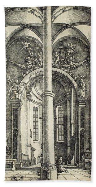 Interior Of The Church Of Saint Katherine Bath Towel