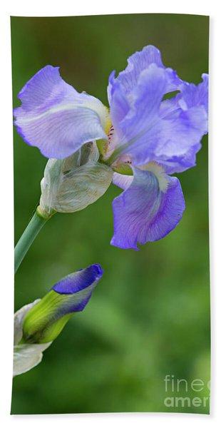 Iris Blue Hand Towel