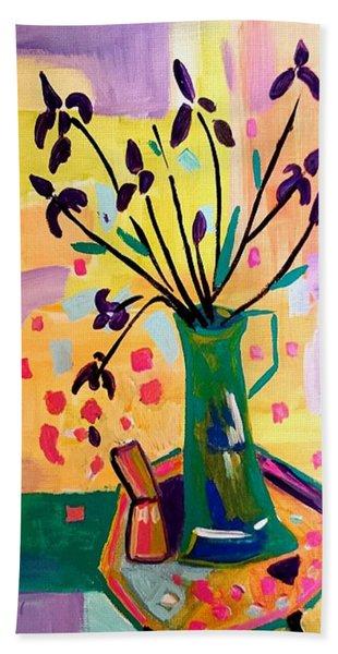 Iris Spring Hand Towel