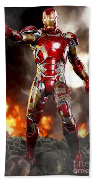 Iron Man - No Battle Damage Bath Towel