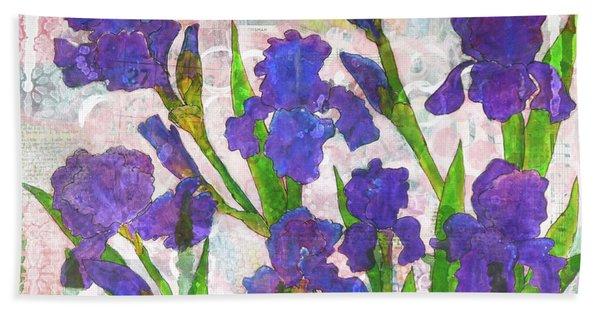 Irresistible Irises Hand Towel