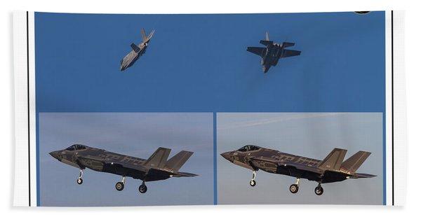 Israeli Air Force First Two F-35i Adir Bath Towel