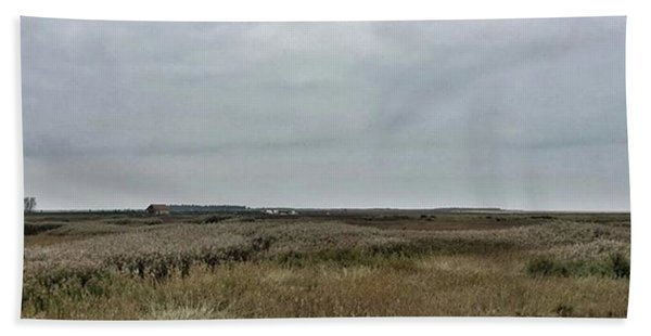 It's A Grey Day In North Norfolk Today Bath Towel