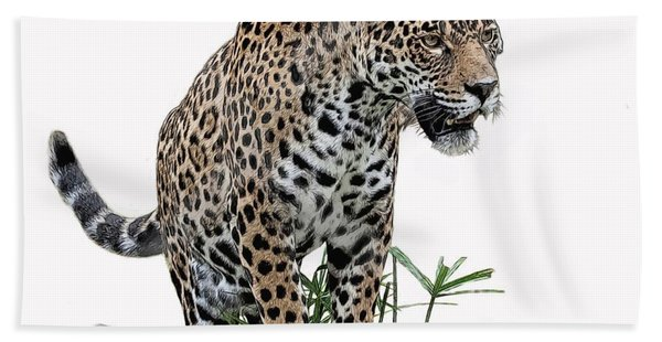 Bath Towel featuring the digital art Jaguar 10 by Larry Linton