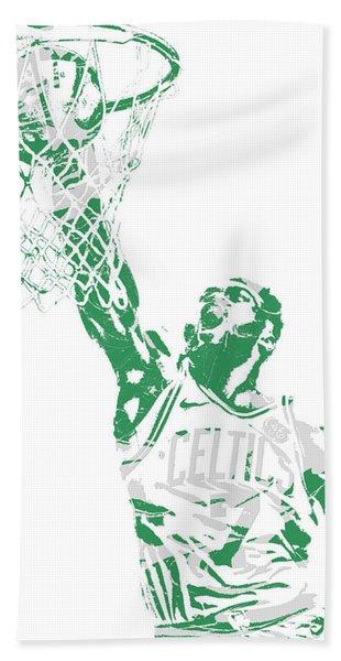 Jaylen Brown Boston Celtics Pixel Art 12 Hand Towel