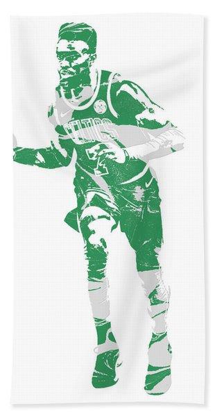 Jaylen Brown Boston Celtics Pixel Art 30 Hand Towel