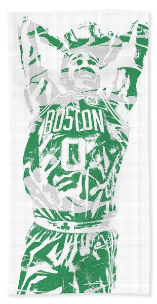 Jayson Tatum Boston Celtics Pixel Art 12 Hand Towel
