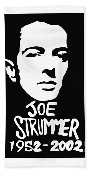 Joe Strummer Bath Towel