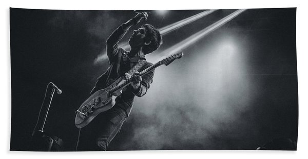 Johnny Marr Playing Live Hand Towel